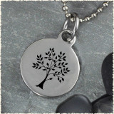 Tree Grow Reversible Stainless Steel Pendant