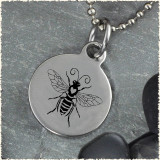 Honey Bee Reversible Stainless Steel Pendant