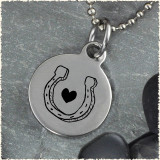 Horseshoe Reversible Stainless Steel Pendant