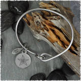 Starfish Stainless Bangle with Reversible Charm