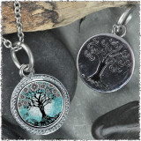 "Tree of Life Teal ""Tree"" Pendant"