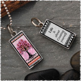 Tree of Life Pink Revesible Rectangular Pendant