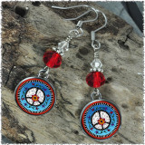 Peace Crystal Circular Earrings