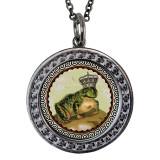 "Frog Circular Reversible Vintage ""Leaf"" Pendant"
