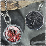 "Red Rose ""Tree"" Pendant"