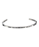 """LOVE YOU TO THE MOON AND BACK"" Stainless Steel Cuff Bracelet"