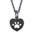 Dog Heart Charm (Stainless Steel)