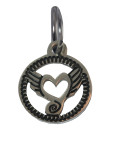 Heart Wings Charm (Stainless Steel)