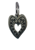 Heart Swirl Charm (Stainless Steel)