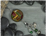 Scroll Abstract Reversible Circular Charm & Bead Pendant