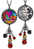Wild Heart Reversible Circular Charm & Bead Pendant