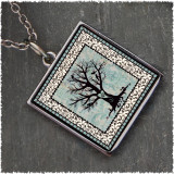 Tree of Life Square Reversible Pendant
