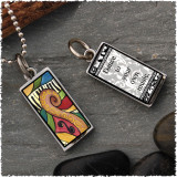 Abstract Music Reversible Rectangular Pendant