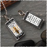 Bee Reversible Rectangular Pendant