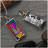 Wild Heart Reversible Rectangular Pendant