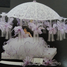 Decorated Umbrella Glass  Holder