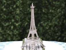 Silver Eiffel Tower Centerpiece