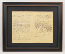 Framed Abraham Lincoln Portrait & Gettysburg Address Set with Black Matte
