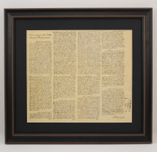 Framed George Washington Portrait & Washington's First Inaugural Address Set with Black Matte
