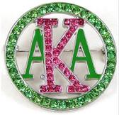 AKA Pink/Green Circle Pin