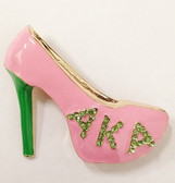 Alpha Kappa Alpha Pink Shoe Lapel Pin