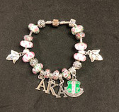 Alpha Kappa Alpha Pandora Bracelet