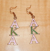 AKA Pink and Green Hanging Earrings
