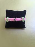 AKA Pink Leather Bracelet