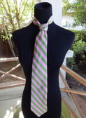 AKA Pink and Green Tie