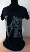 AKA Love Rhinestone Shirt W/Clear Rhinestones