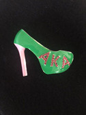 AKA Green Shoe Lapel Pin