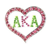 AKA Love Rhinestone Lapel Pin