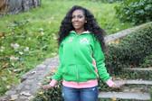 Alpha Kappa Alpha Pink and Green Track Jacket