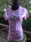 AKA Short Sleeve Pink Camouflage Shirt