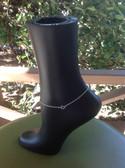 Alpha Kappa Alpha Sterling Silver Anklet