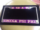 Omega Psi Phi License Plate Frames