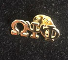 Omega Psi Phi 3 Gold Letters Lapel Pin