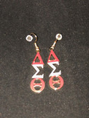 Delta Sigma Theta Metal Earrings