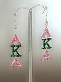 AKA Rhinestone Pink and Green Earrings