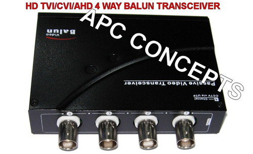 4 Channel HD Balun Video Transceiver HD TVI/CVI/AHD