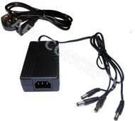 AC/DC 12V DC 5A Desktop Power Supply With 4 fly leads Standard 2.1mm x 5.5mm