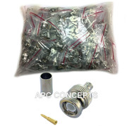 100 Pack RG59 3 Part BNC Crimp Suitable For RG59 Coaxial Cable