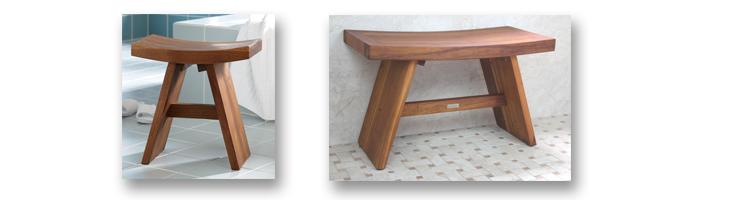 Asia Shower Stools | Teak Shower Benches | Aqua Teak