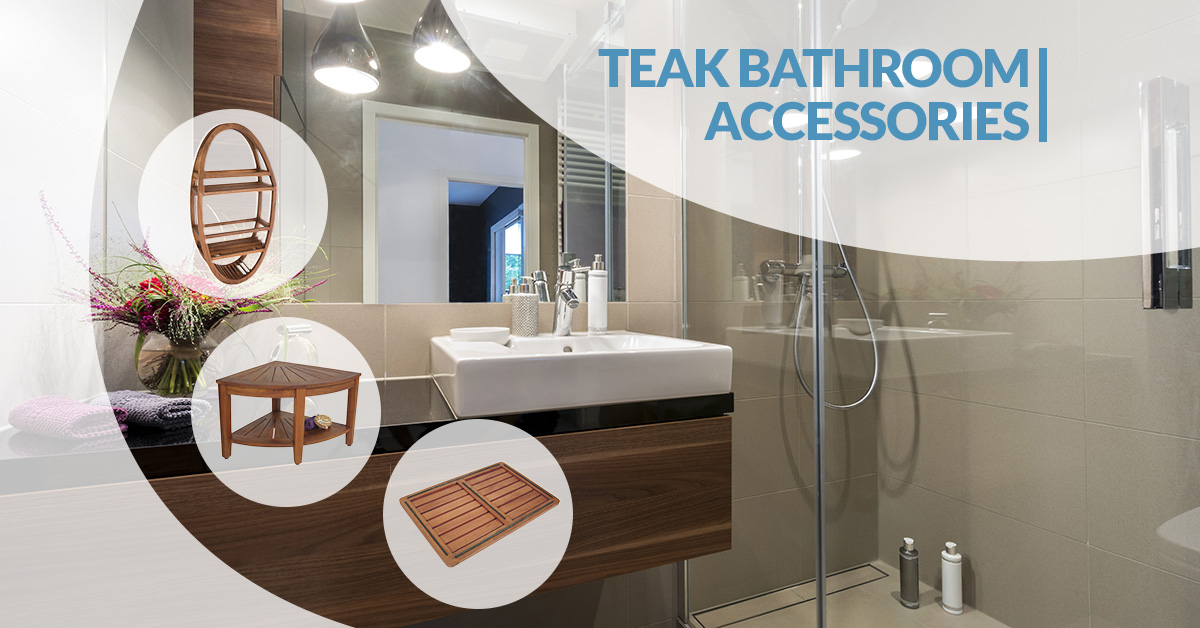 Teak bathroom accessories aqua teak for Teak wood bathroom accessories