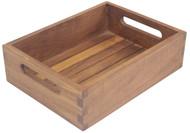 teak storage tray