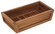 The Original Moa Teak Bathroom Guest Towel & Amenities Tray