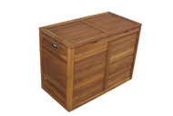 large teak laundry hamper