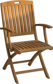 Aqua Traditional Folding Arm Chair