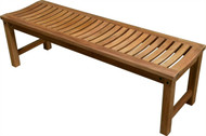 "Aqua Stratus 47"" Backless Bench"
