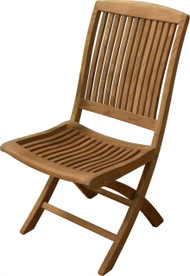 Aqua Linear Folding Side Chair